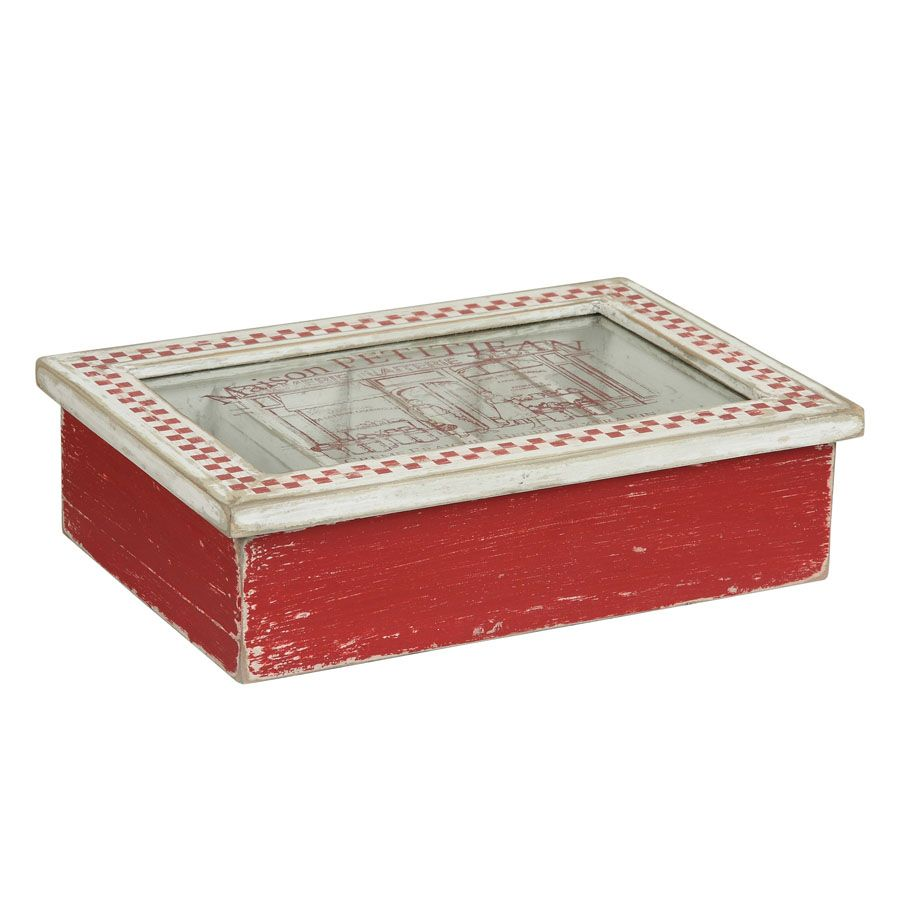 bo te range couverts en bois rouge interior 39 s. Black Bedroom Furniture Sets. Home Design Ideas
